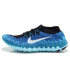 CHEAP NIKE FREE 3.0 FLYKNIT MEN RUNNING SHOES BLUE BLACK FOR SALE