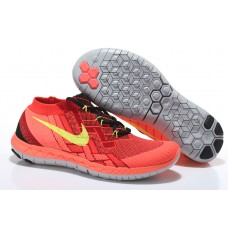 CHEAP NIKE FREE 3.0 FLYKNIT MEN RUNNING SHOES RED ORANGE FOR SALE