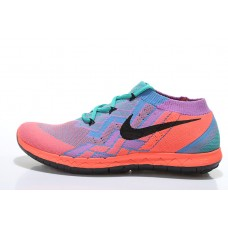 CHEAP NIKE FREE 3.0 FLYKNIT WOMEN RUNNING SHOES PEACH GREEN BLUE FOR SALE