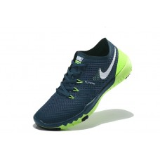 CHEAP NIKE FREE 3.0 V3 FLYWIRE MEN RUNNING SHOES DEEP BLUE FLUORESCENT GREEN OUTLET