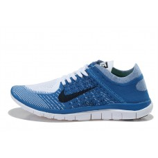 CHEAP NIKE FREE 4.0 FLYKNIT MEN RUNNING SHOES BLACK BLUE FOR SALE