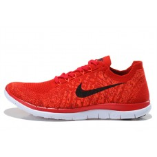 CHEAP NIKE FREE 4.0 FLYKNIT MEN RUNNING SHOES BLACK RED OUTLET SALE