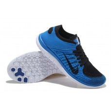 CHEAP NIKE FREE 4.0 FLYKNIT MEN RUNNING SHOES PEACOCK BLACK OUTLET