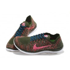 CHEAP NIKE FREE 4.0 FLYKNIT WOMEN RUNNING SHOES BRONZE PINK FOR SALE