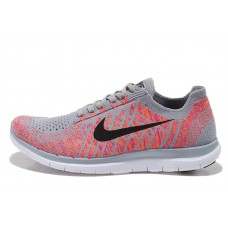 CHEAP NIKE FREE 4.0 FLYKNIT WOMEN RUNNING SHOES GRAY PINK FOR SALE