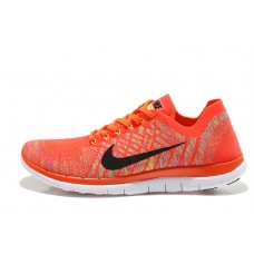 CHEAP NIKE FREE 4.0 FLYKNIT WOMEN RUNNING SHOES ORANGE WHITE OUTLET