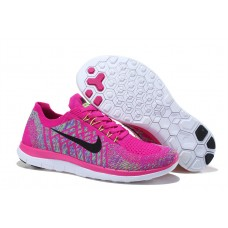 CHEAP NIKE FREE 4.0 FLYKNIT WOMEN RUNNING SHOES PEACH COLORS FOR SALE
