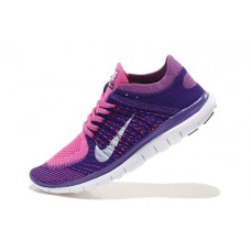 CHEAP NIKE FREE 4.0 FLYKNIT WOMEN RUNNING SHOES PINK PURPLE FOR SALE