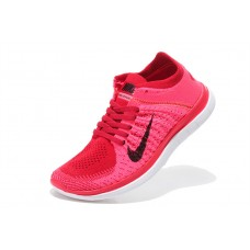 CHEAP NIKE FREE 4.0 FLYKNIT WOMEN RUNNING SHOES RED BLACK FOR SALE