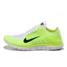 CHEAP NIKE FREE 4.0 FLYKNIT WOMEN RUNNING SHOES WHITE BLACK FLUORESCENT YELLOW SALE