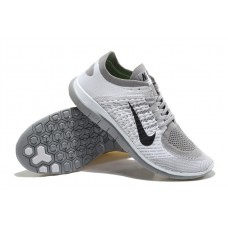 CHEAP NIKE FREE 4.0 FLYKNIT WOMEN RUNNING SHOES WHITE BLACK GREY FOR SALE