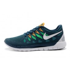 CHEAP NIKE FREE 5.0 MEN RUNNING SHOES BLUE GREEN ORNGE FOR SALE