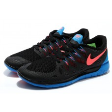 CHEAP NIKE FREE 5.0 WOMEN RUNNING SHOES BLACK ROYAL BLUE ORAGE WHOLESALE