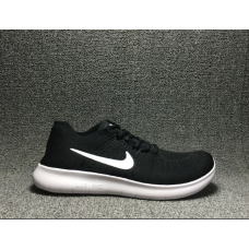 Cheap Nike Free Run Flyknit 2017 Men Shoes Black White