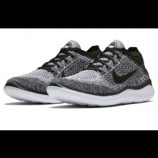 Cheap Nike Free Run Flyknit 2018 Men Shoes Black Grey