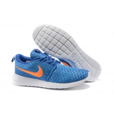 CHEAP NIKE ROSHE RUN MEN RUNNING SHOES ROYAL BLUE WHITE ORANGE FOR SALE