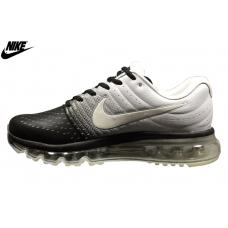 Cheap Oakley Nike Air Max 2017 Leather Shoes White Black Outlet