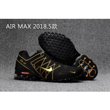 Clearance Sale Nike Air Max 2018 Men Shoes Black Gold