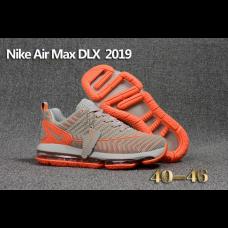 Discount Nike Air Max DLX 2019 Men Shoes Gray Orange