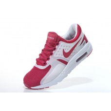 CHEAP NIKE AIR MAX ZERO WOMEN RUNNING SHOES WHITE WINE RED WHOLESALE