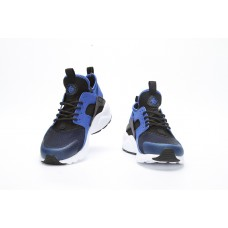 KNOCK OFF NIKE AIR HUARACHE IV 4 MEN RUNNING SHOES BLACK WHITE DEEP BLUE