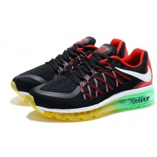 NIKE AIR MAX 2015 MEN RUNNING SHOES BLACK RED GREEN WHOLESALE