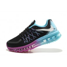 NIKE AIR MAX 2015 WOMEN RUNNING SHOES BLACK BLUE PURPLE WHOLESALE
