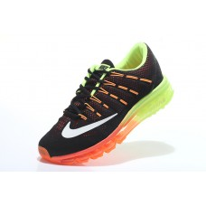 NIKE AIR MAX 2016 MEN RUNNING SHOES BLACK ORANGE FLUORESCEMT GREEN WHOLESALE