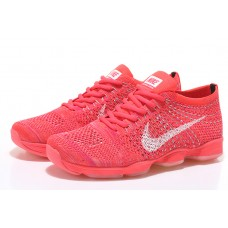 NIKE AIR ZOOM FIT AGILITY FLYKNIT WOMEN RUNNING SHOES ORANGE WHITE OUTLET SALE