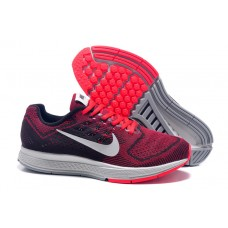 NIKE AIR ZOOM STRUCTURE 18 MEN RUNNING SHOES BLACK RED OUTLET SALE
