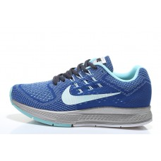 NIKE AIR ZOOM STRUCTURE 18 WOMEN RUNNING SHOES BLACK ROYAL BLUE SILVER OUTLET SALE