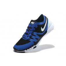 NIKE FREE 3.0 V3 FLYWIRE MEN RUNNING SHOES ROYAL BLUE BLACK WHITE OUTLET SALE