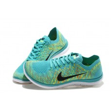 NIKE FREE 4.0 FLYKNIT MEN RUNNING SHOES MOON GREEN WHOLESALE