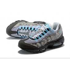 Replica Nike Air Max 95 Women Shoes Grey Blue Outlet