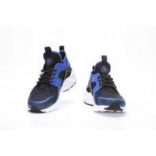 WHOLESALE NIKE AIR HUARACHE IV4 WOMEN RUNNING SHOES BLACK WHITE DEEP BLUE