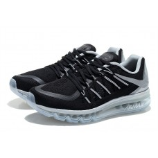 WHOLESALE NIKE AIR MAX 2015 MEN RUNNING SHOES BLACK SILVER