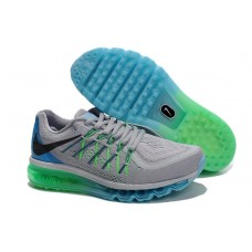 WHOLESALE NIKE AIR MAX 2015 MEN RUNNING SHOES LIGHT GRAY BLUE GREEN