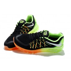 WHOLESALE NIKE AIR MAX 2015 WOMEN RUNNING SHOES BLACK ORANGE FLUORESCENT GREEN