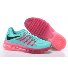 WHOLESALE NIKE AIR MAX 2015 WOMEN RUNNING SHOES JADE PEACH FLUORESCENT GREEN