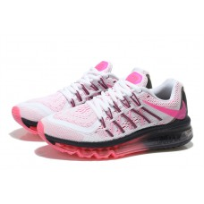 WHOLESALE NIKE AIR MAX 2015 WOMEN RUNNING SHOES WHITE BLACK PEACH