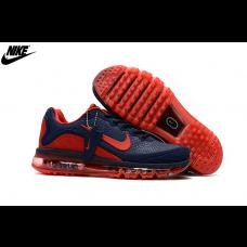Wholesale Nike Air Max 2017 KPU Men Running Shoes Navy Crimson
