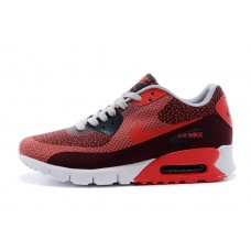 WHOLESALE NIKE AIR MAX 90 WOMEN RUNNING SHOES BURGUNDY RED