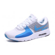WHOLESALE NIKE AIR MAX ZERO WOMEN RUNNING SHOES WHITE BLUE
