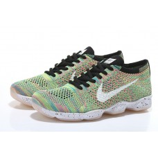 WHOLESALE NIKE AIR ZOOM FIT AGILITY FLYKNIT MEN RUNNING SHOES BLACK WHITE RAINBOW