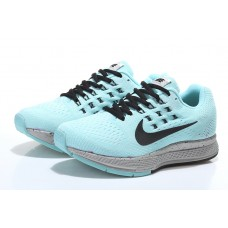 WHOLESALE NIKE AIR ZOOM STRUCTURE 18 WOMEN RUNNING SHOES BLACK BLUE SILVER