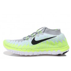 WHOLESALE NIKE FREE 3.0 FLYKNIT MEN RUNNING SHOES GREY FLUORESCENT YELLOW