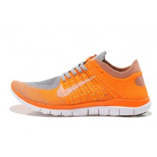 WHOLESALE NIKE FREE 3.0 FLYKNIT MEN RUNNING SHOES GREY WHITE ORANGE