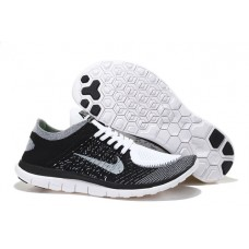 WHOLESALE NIKE FREE 4.0 FLYKNIT WOMEN RUNNING SHOES BLACK WHITE