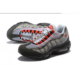 Wholesale Nike Air Max 95 Women Shoes White Red Grey